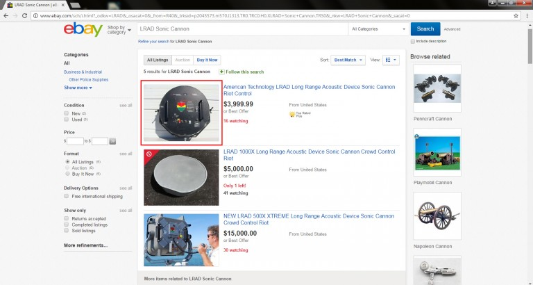 LRAD on eBay