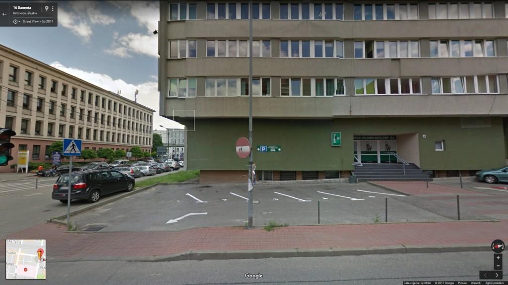 Ul. Damrota 16, Katowicki Holding Węglowy (Google Street View)