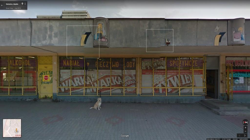 Sklep, ul. Tysiąclecia 82, Tysiąc (Google Street View)